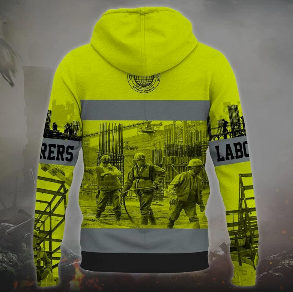PERRSONALIZED LABORERS INTERNATIONAL UNION OF NORTH AMERICAN ALLL OVER PRINTED 3D HOODIE