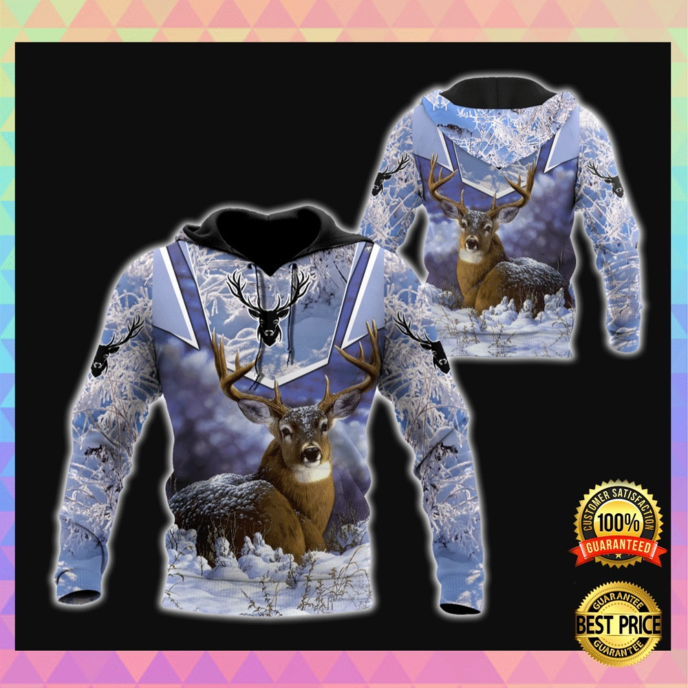 DEER WINTER ALL OVER PRINTED 3D HOODIE