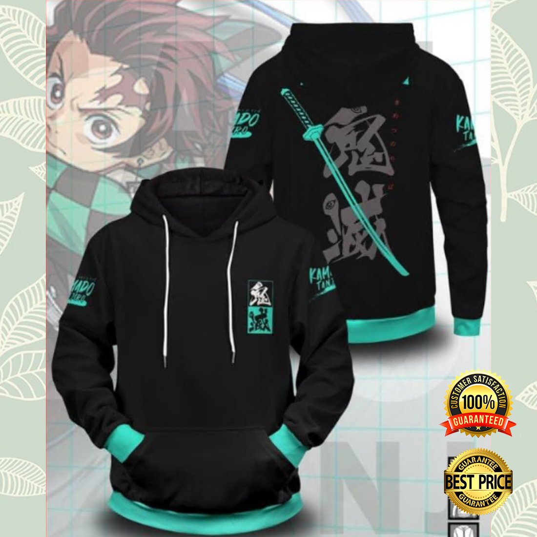 The Tanjirou Style All Over Printed 3D Hoodie
