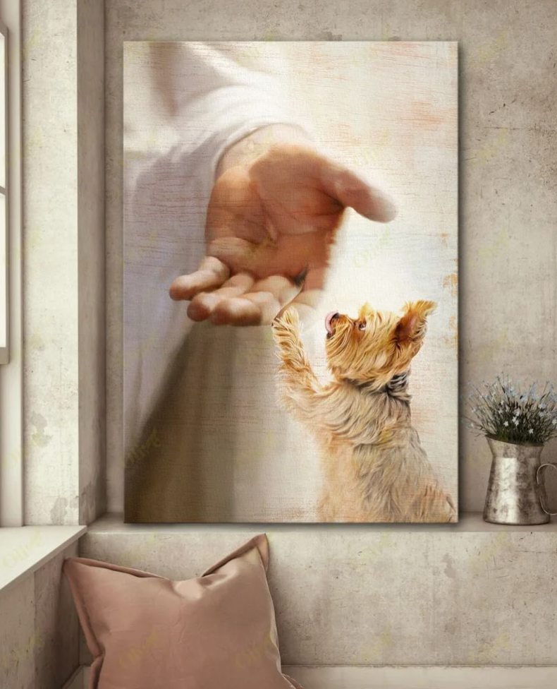 [Limited] YORKSHIRE TERRIER TAKE MY HAND CANVAS