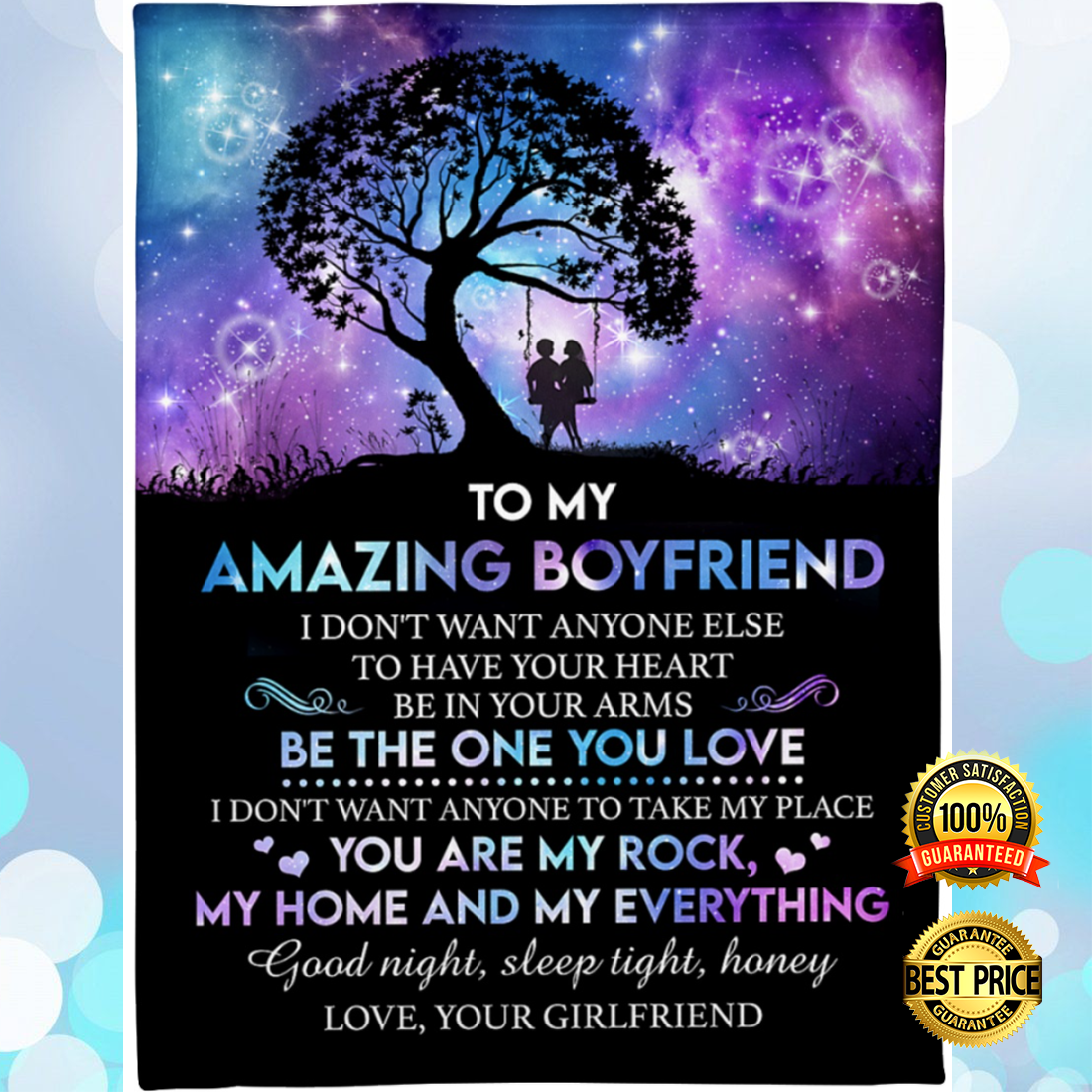 [NEW] TO MY AMAZING BOYFRIEND I DON'T WANT ANYONE ELSE TO HAVE YOUR HEART BLANKET