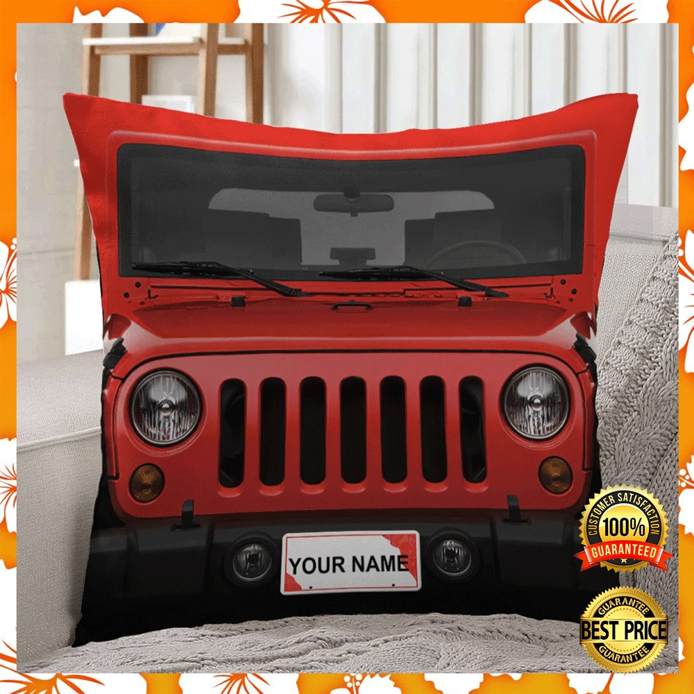 [NEW] PERSONALIZED JEEP PILLOW