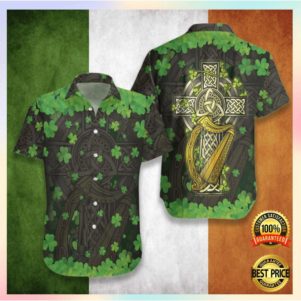 [Hot] The Celtic Cross Harp Irish Hawaiian Shirt
