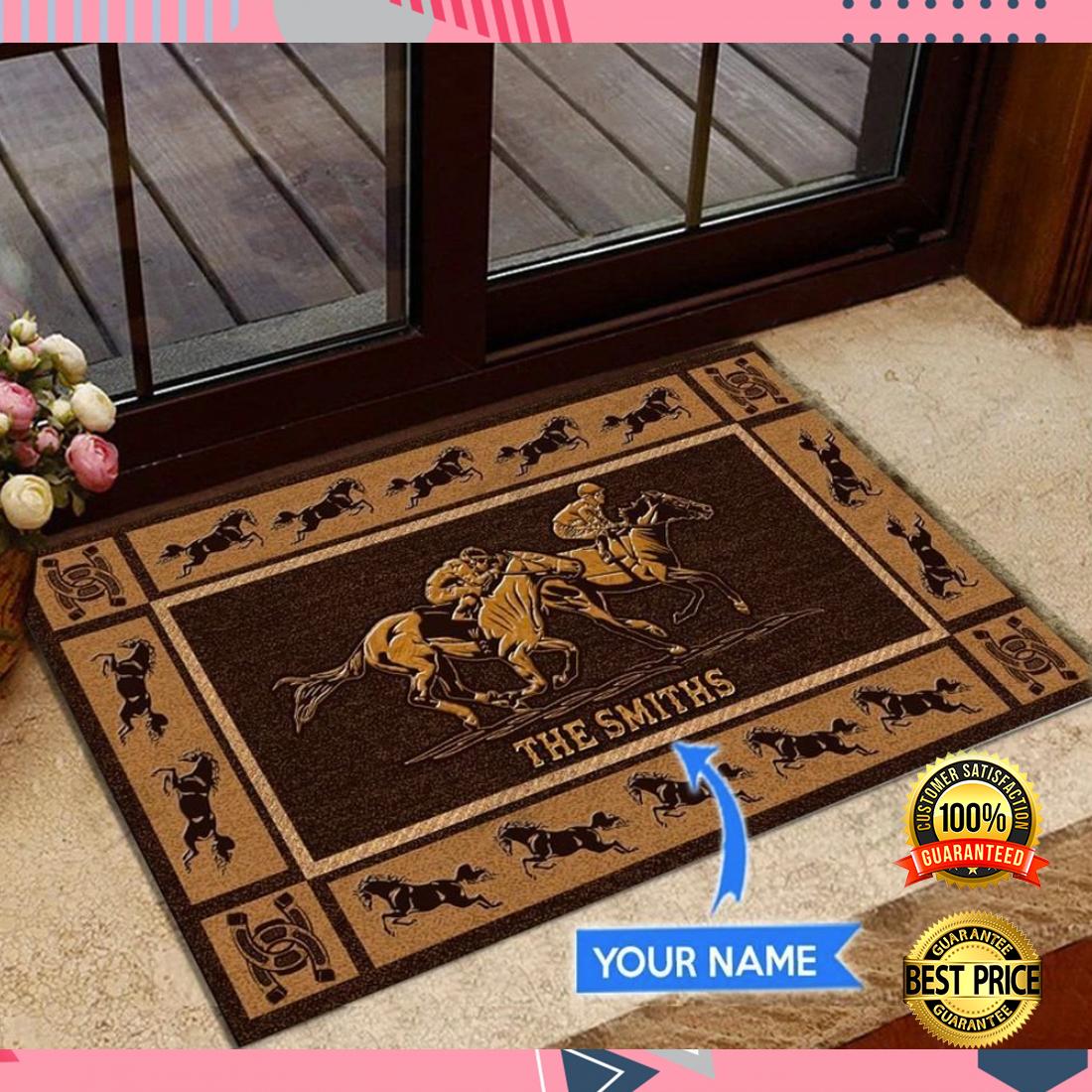 [New] Personalized horse racing doormat