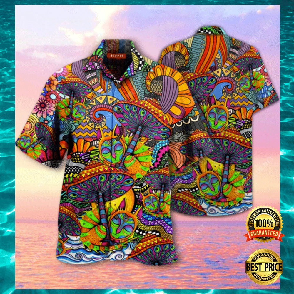[New] Hippie Mushroom Hawaiian Shirt