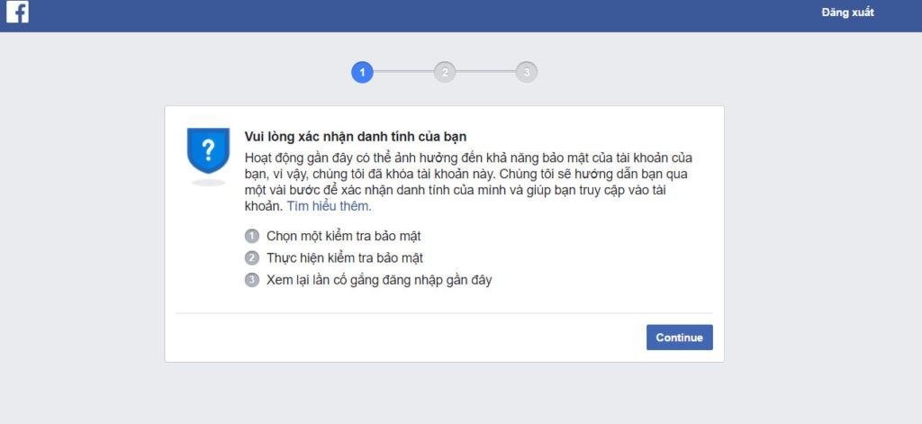 Trả lời câu hỏi: Facebook xác nhận danh tính trong bao lâu? 1