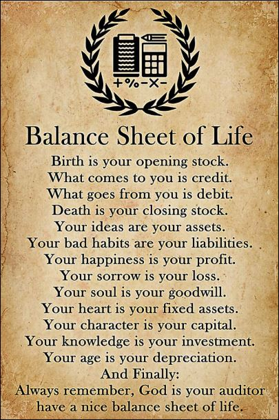 [Cheapest]  Balance sheet of life poster