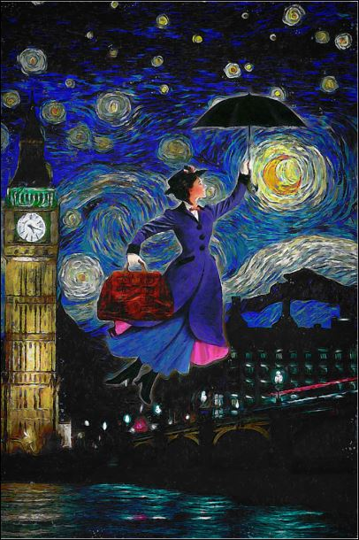[Sale off]  Mary Poppins art poster