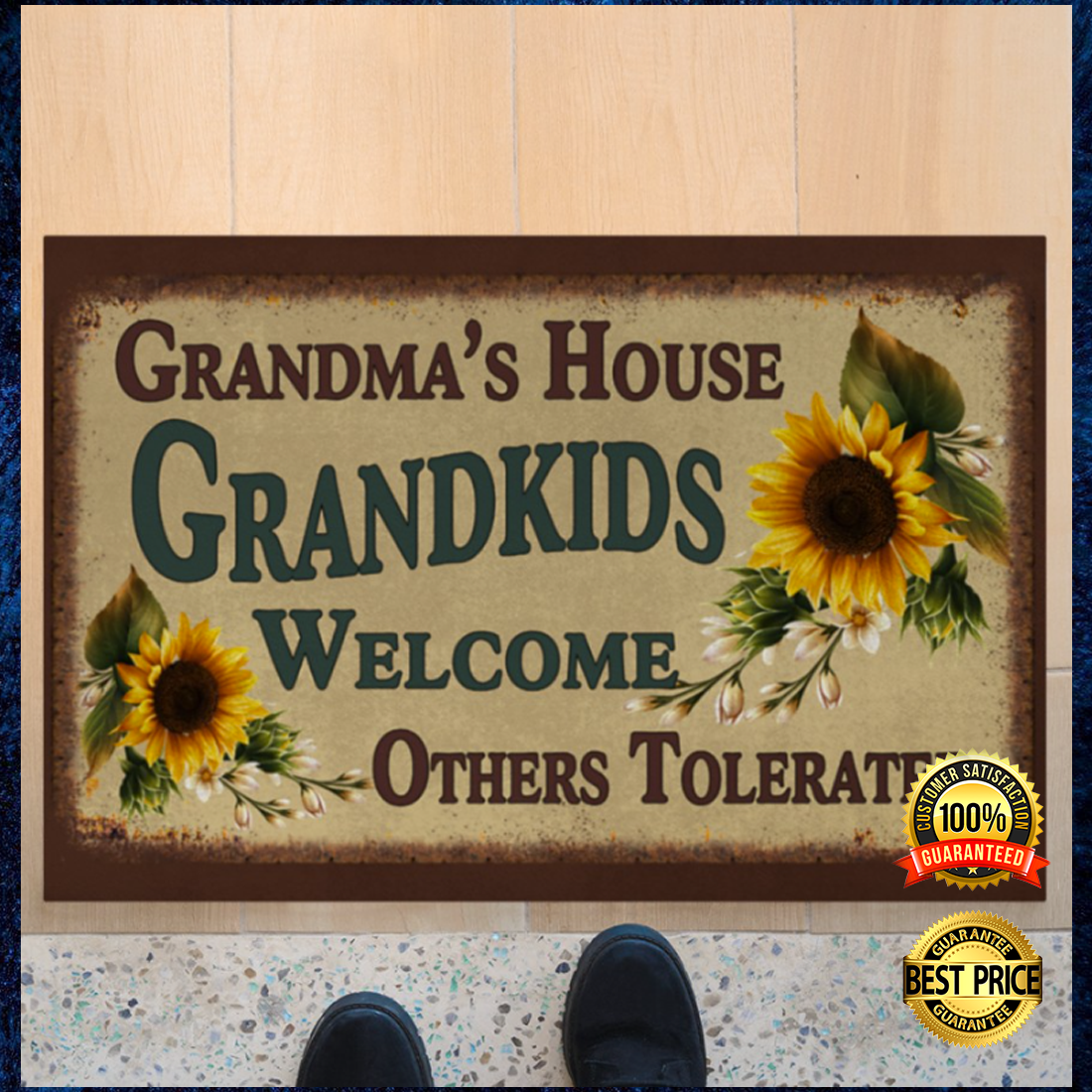 Grandma's house grandkids welcome others tolerated doormat 7