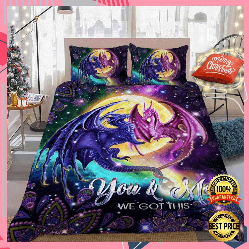 DRAGON YOU AND ME WE GOT THIS BEDDING SET 7