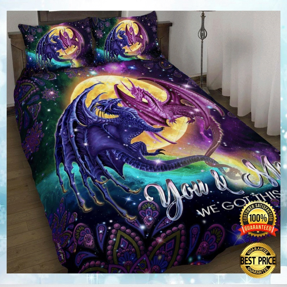 DRAGON YOU AND ME WE GOT THIS BEDDING SET 5