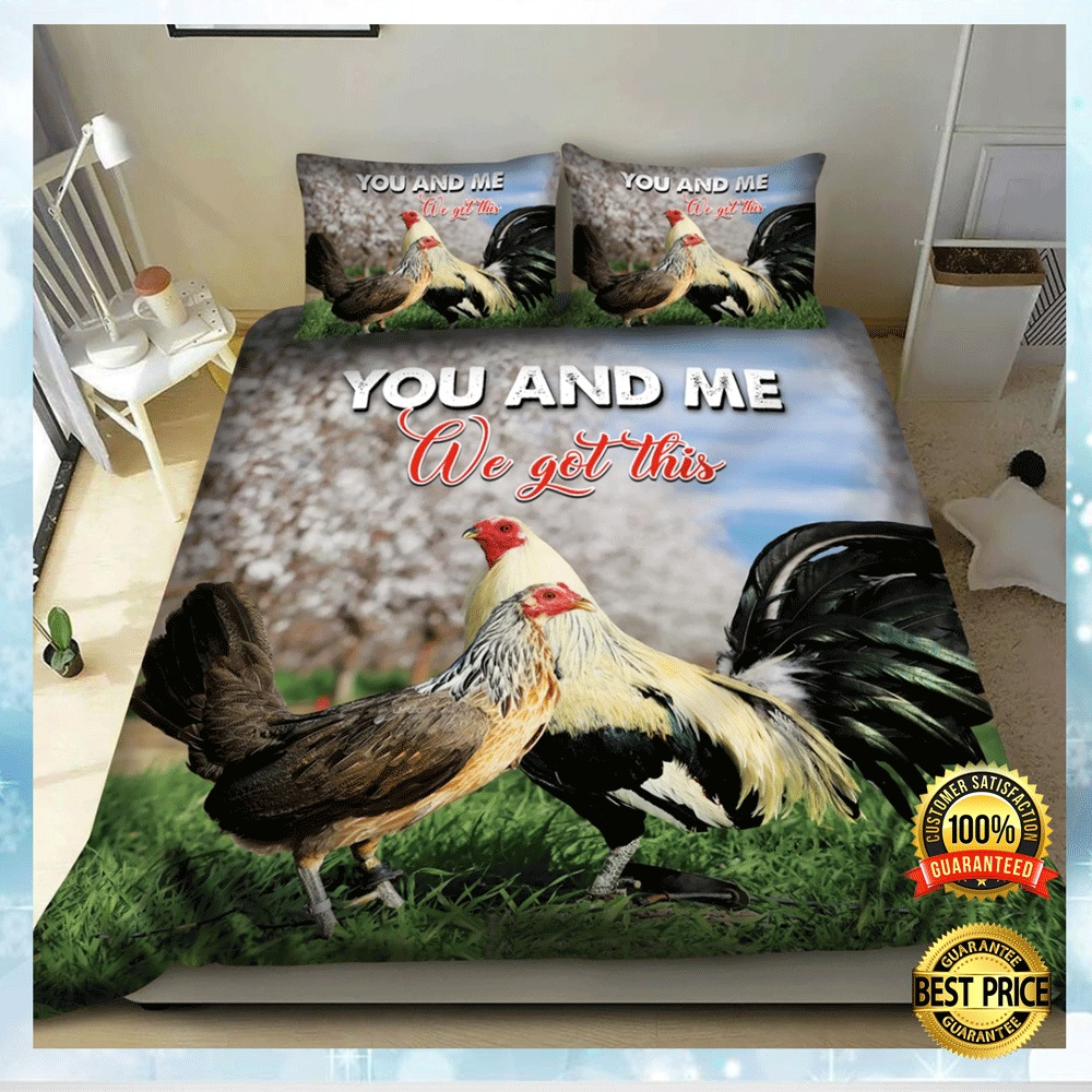 CHICKEN YOU AND ME WE GOT THIS BEDDING SET 6