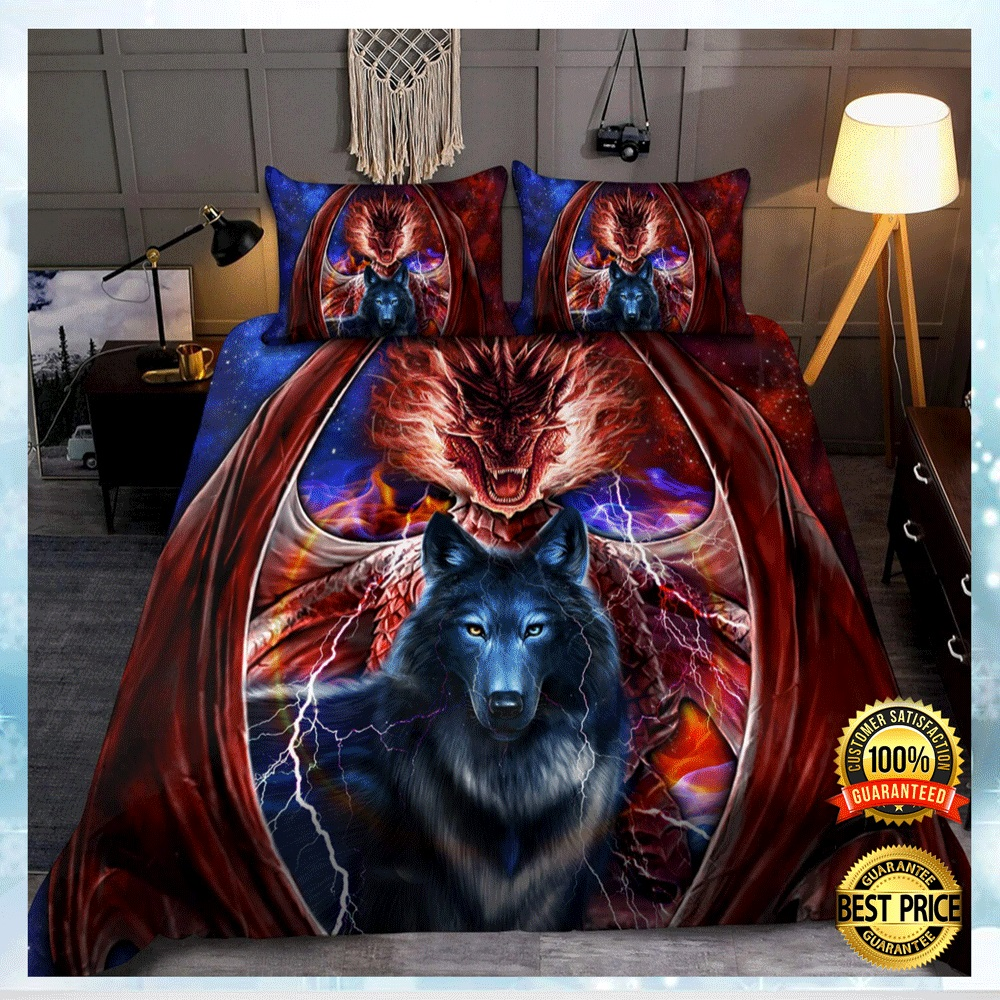 DRAGON AND WOLF BEDDING SET 4