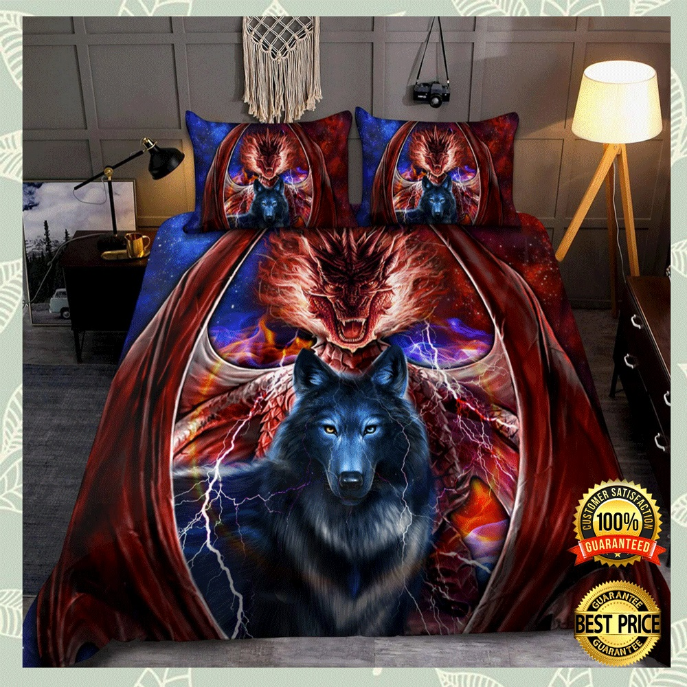 DRAGON AND WOLF BEDDING SET 5