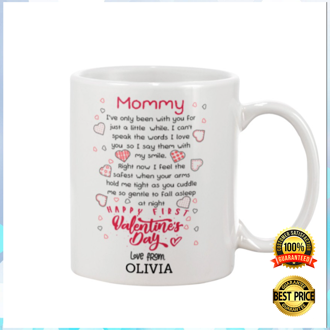 PERSONALIZED MOMMY HAPPY FIRST VALENTINE'S DAY MUG 6