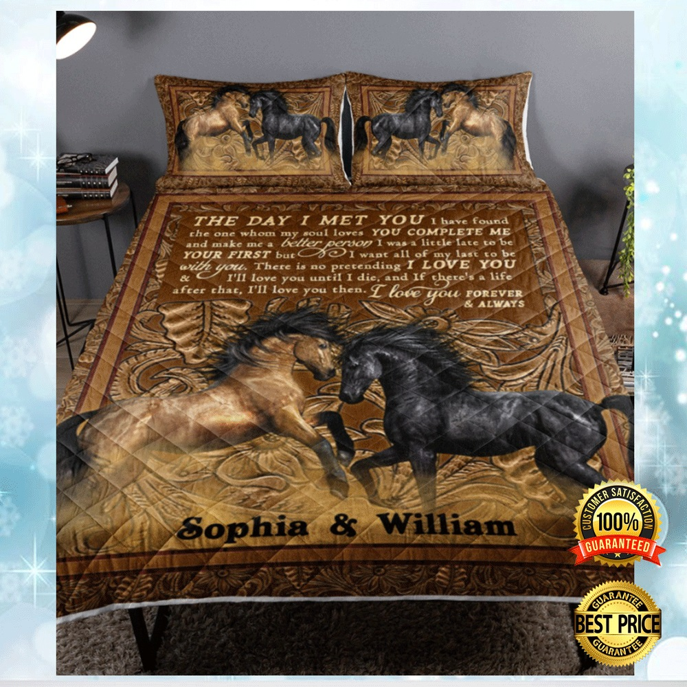 PERSONALIZED HORSE THE DAY I MET YOU BEDDING SET 5