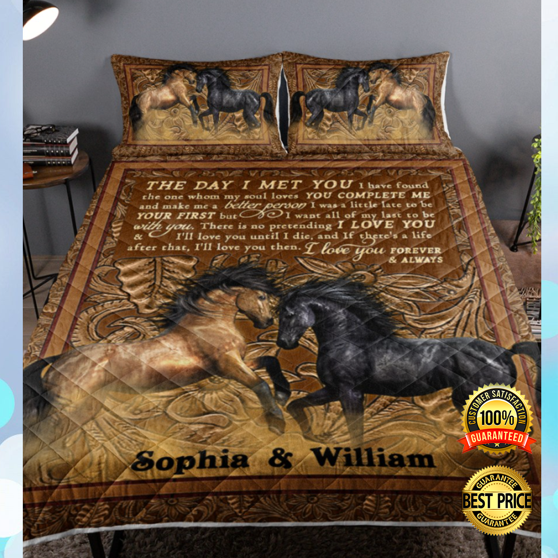 PERSONALIZED HORSE THE DAY I MET YOU BEDDING SET 7
