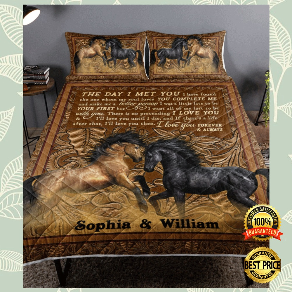 PERSONALIZED HORSE THE DAY I MET YOU BEDDING SET 6