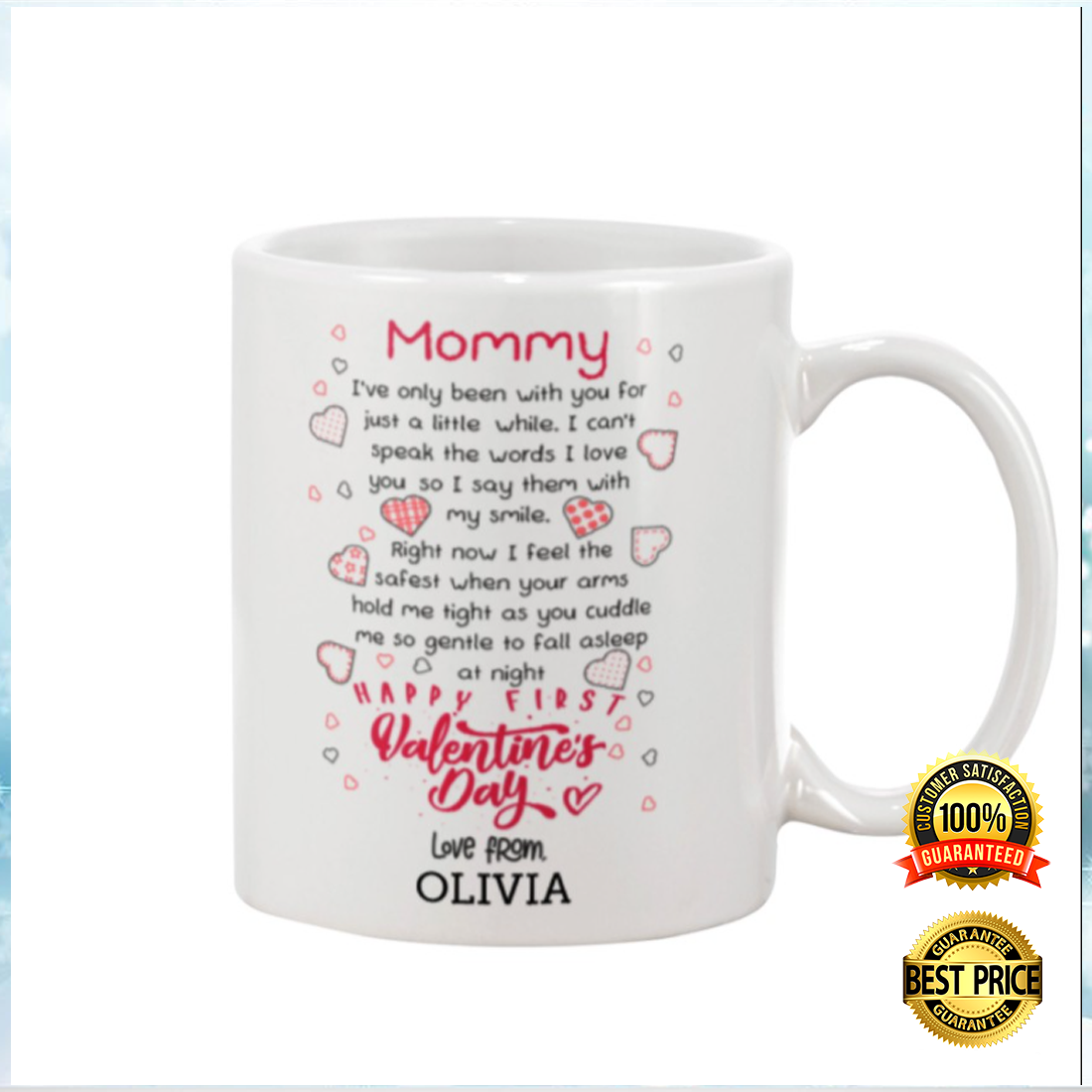 PERSONALIZED MOMMY HAPPY FIRST VALENTINE'S DAY MUG 5