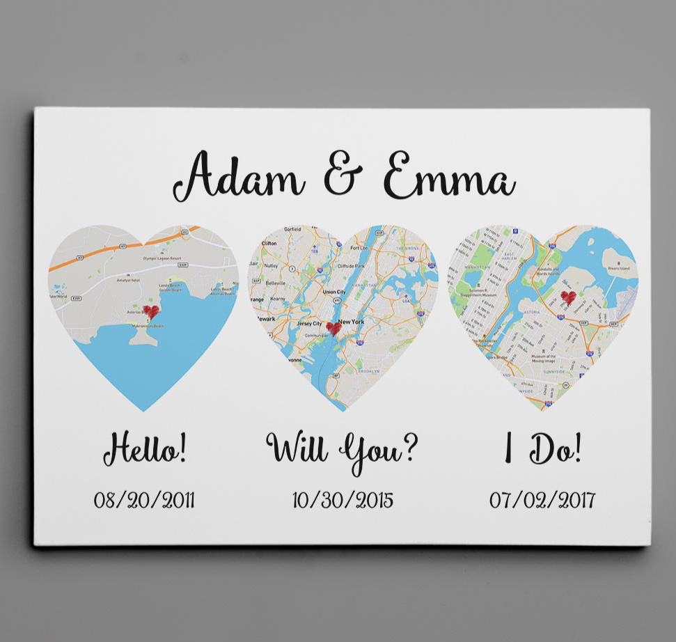 PERSONALIZED HELLO WILL YOU I DO CANVAS 7