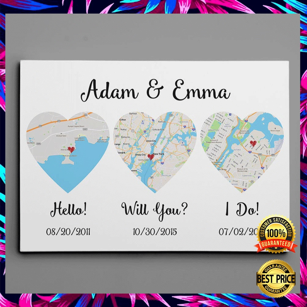 PERSONALIZED HELLO WILL YOU I DO CANVAS 6