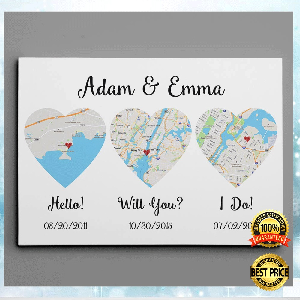 PERSONALIZED HELLO WILL YOU I DO CANVAS 4