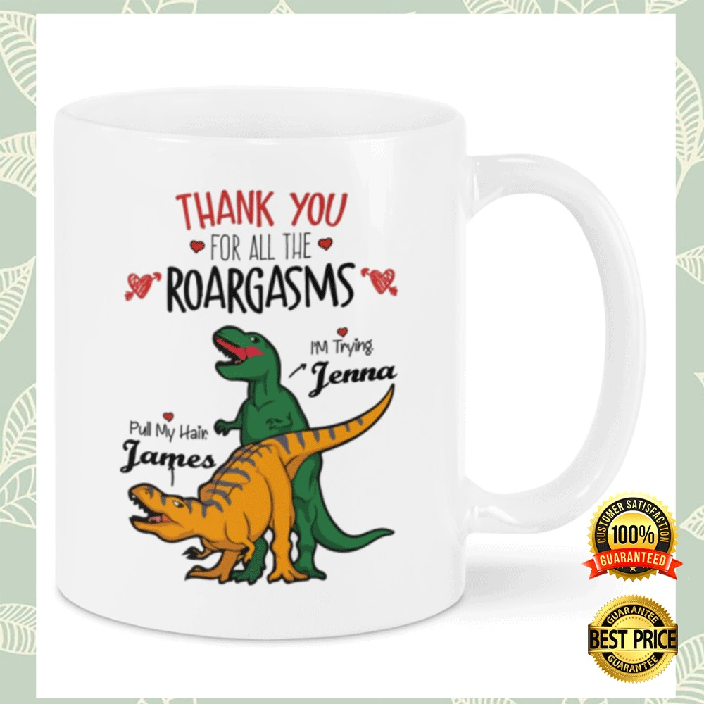 PERSONALIZED THANK YOU FOR ALL THE ROARGASMS MUG 4