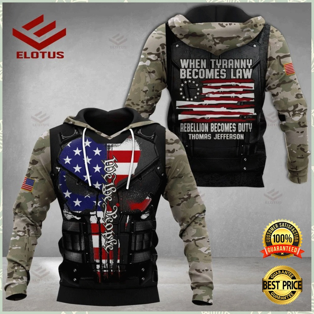 PERSONALIZED WHEN TYRANNY BECOMES LAW REBELLION BECOMES DUTY ALL OVER PRINTED 3D HOODIE 4
