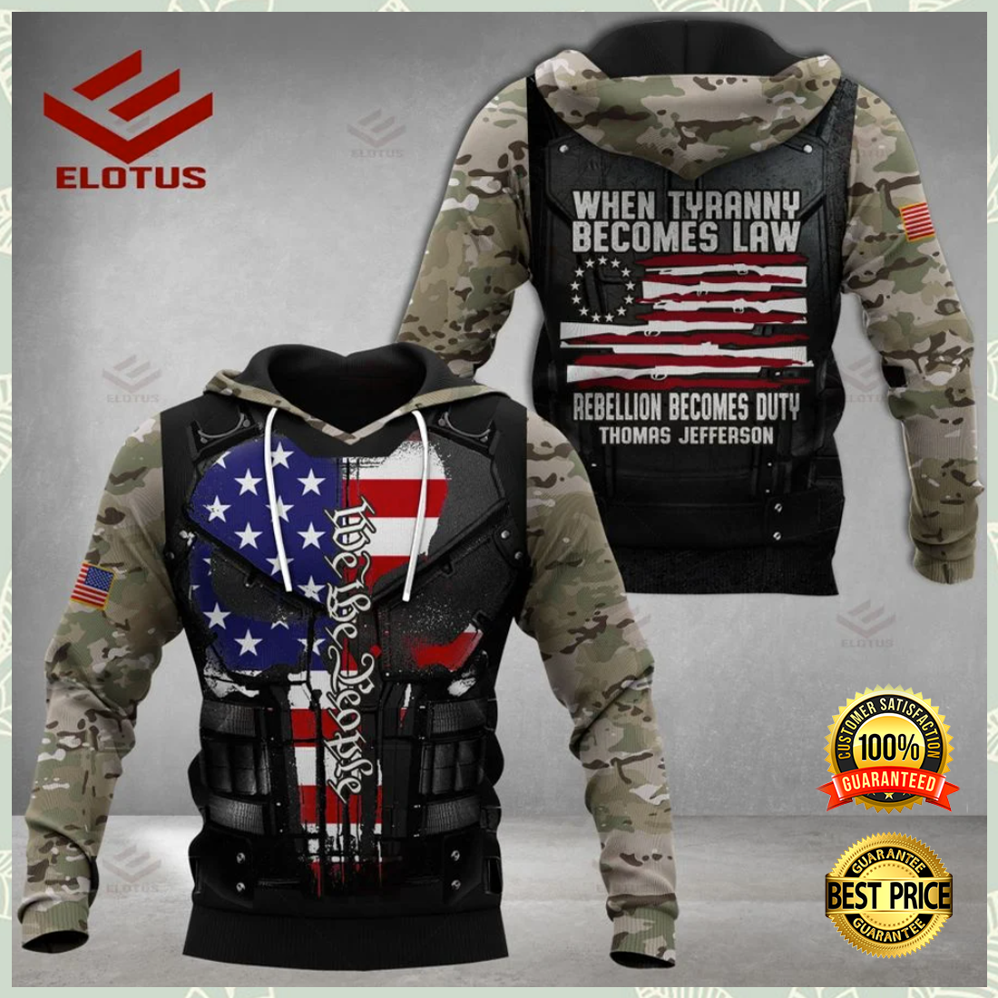 PERSONALIZED WHEN TYRANNY BECOMES LAW REBELLION BECOMES DUTY ALL OVER PRINTED 3D HOODIE 5