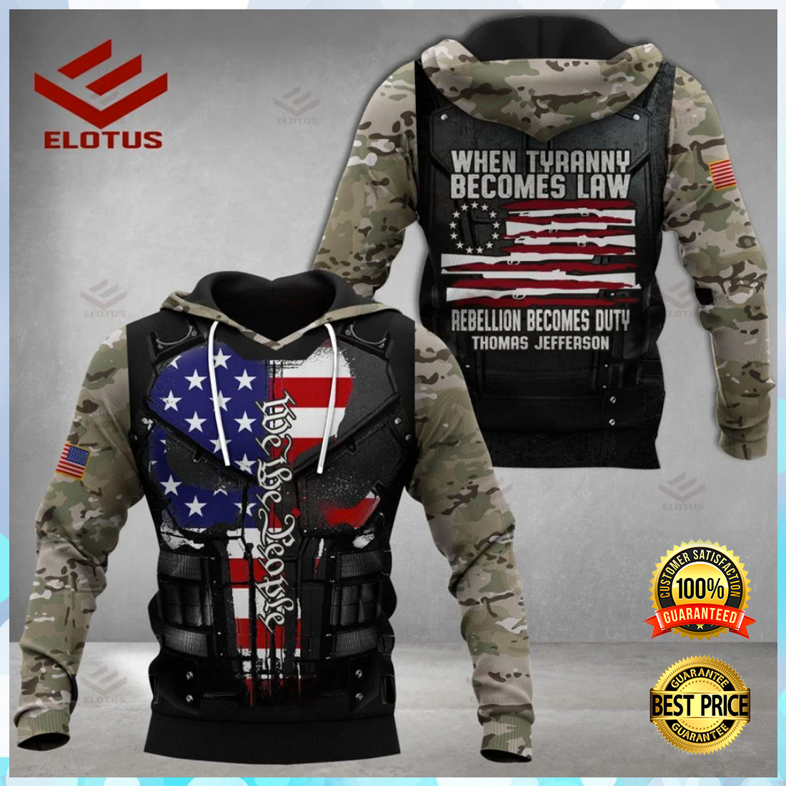 PERSONALIZED WHEN TYRANNY BECOMES LAW REBELLION BECOMES DUTY ALL OVER PRINTED 3D HOODIE 6