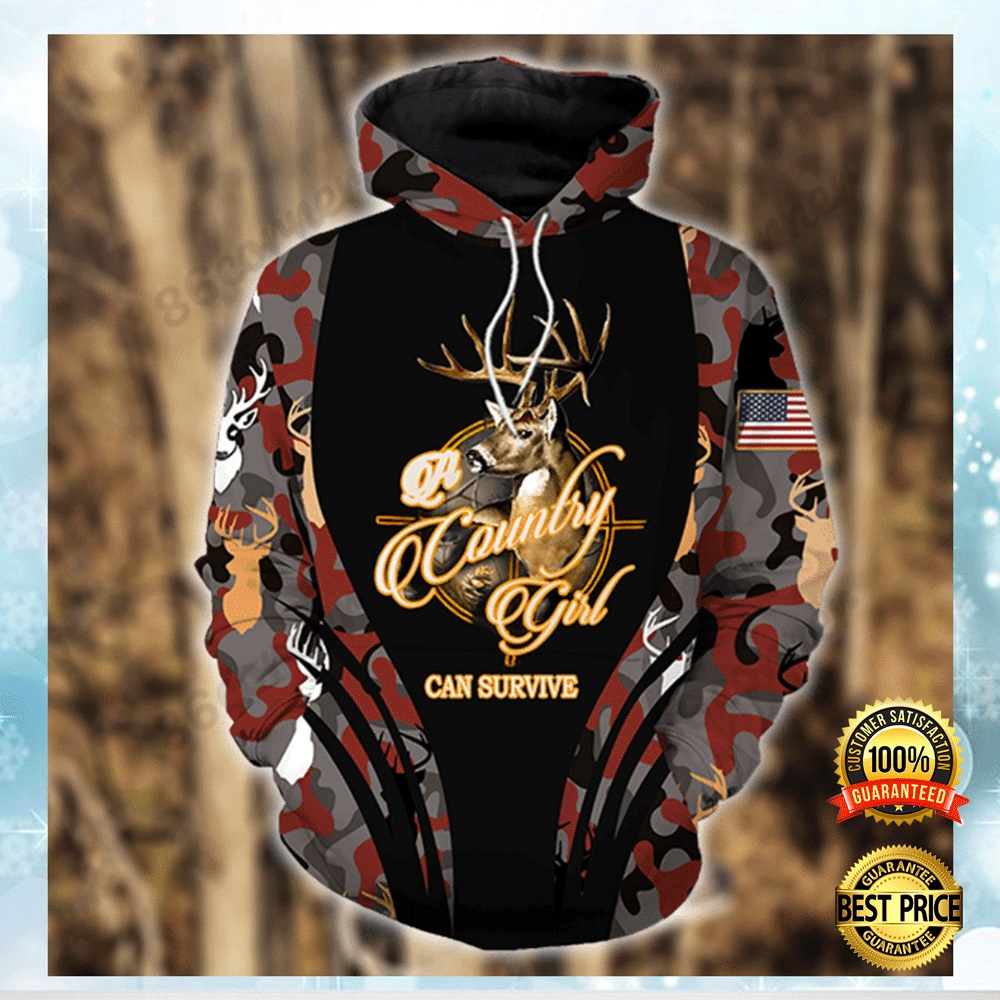 A COUNTRY GIRL CAN SURVIVE ALL OVER PRINTED 3D HOODIE 7