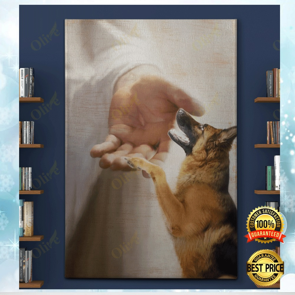 GERMAN SHEPHERD TAKE MY HAND CANVAS 5
