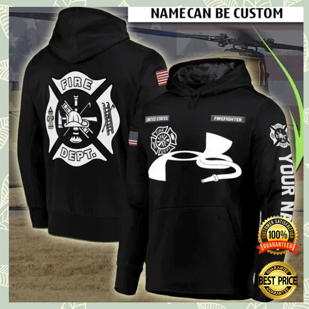 PERSONALIZED FIRE DEPT ALL OVER PRINTED 3D HOODIE 6