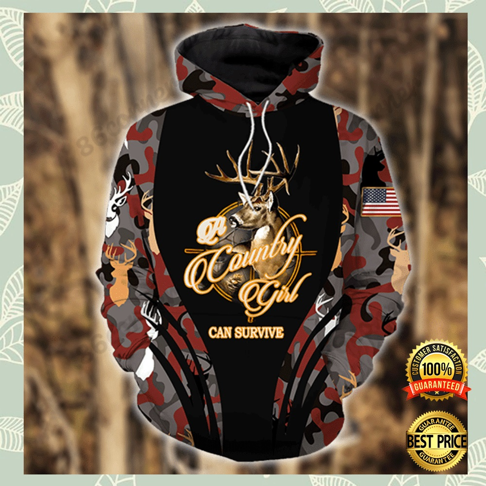 A COUNTRY GIRL CAN SURVIVE ALL OVER PRINTED 3D HOODIE 4