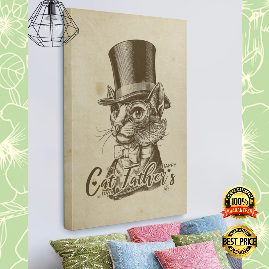 HAPPY CAT FATHER'S DAYS CANVAS 5