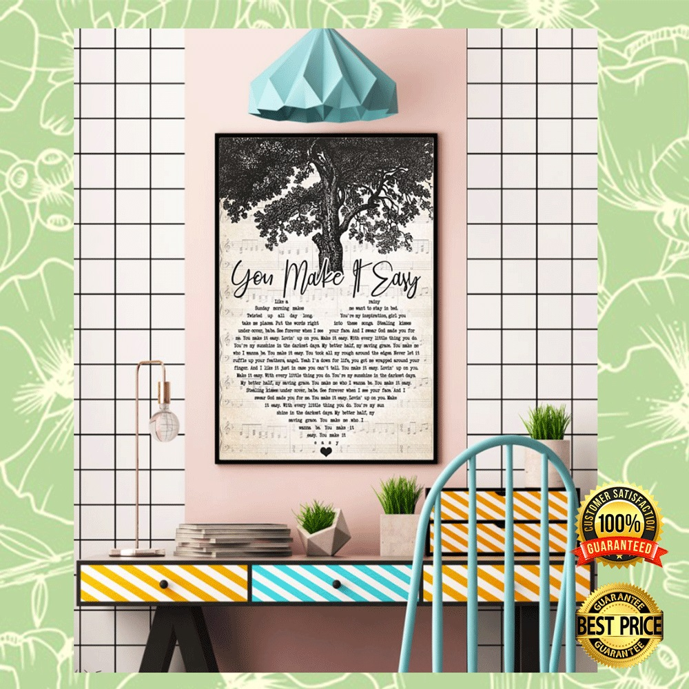 [Great] You make it eassy heart song lyric poster