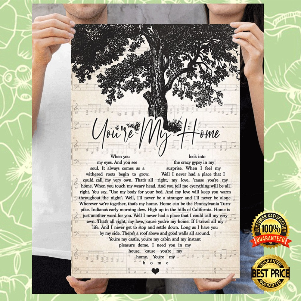 You're my home heart song lyric poster 7