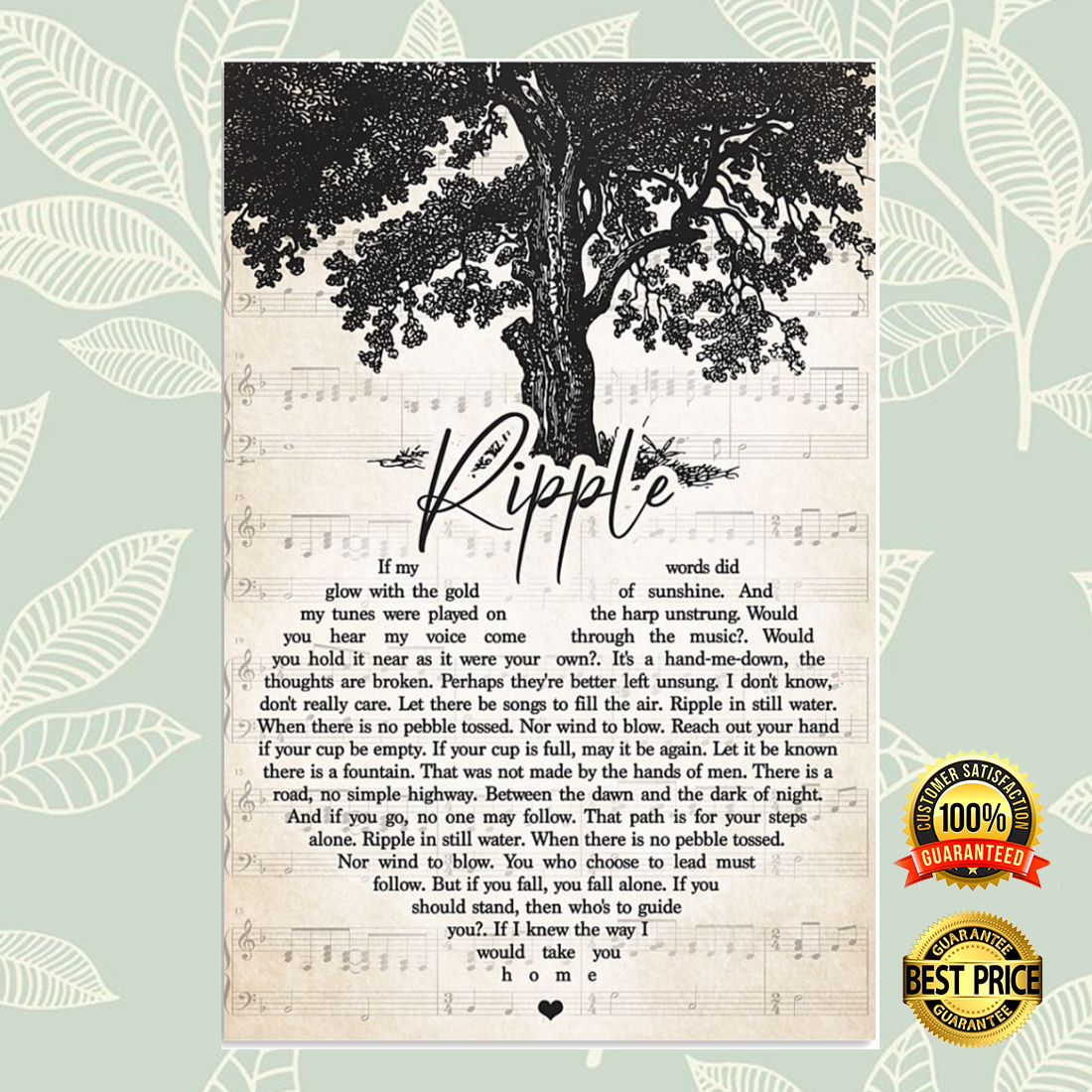 Ripple heart song lyric poster 6