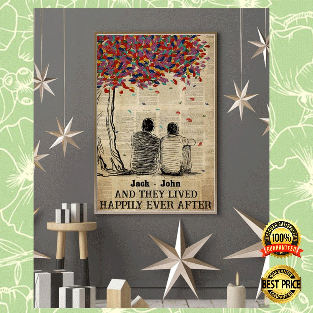 Personalized LGBT and they lived happily ever after poster 5