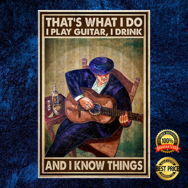 That's what i do i playing guitar i drink and i know things poster 6