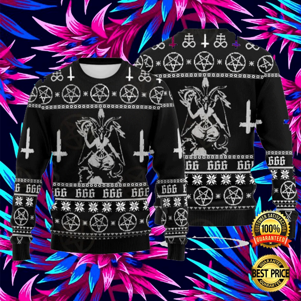 BAPHOMET CROSS INVERTED UGLY SWEATER 5
