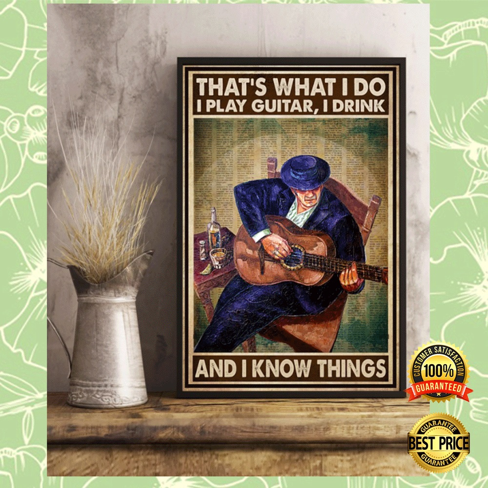 That's what i do i playing guitar i drink and i know things poster 5