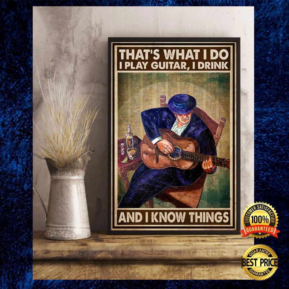 That's what i do i playing guitar i drink and i know things poster 4