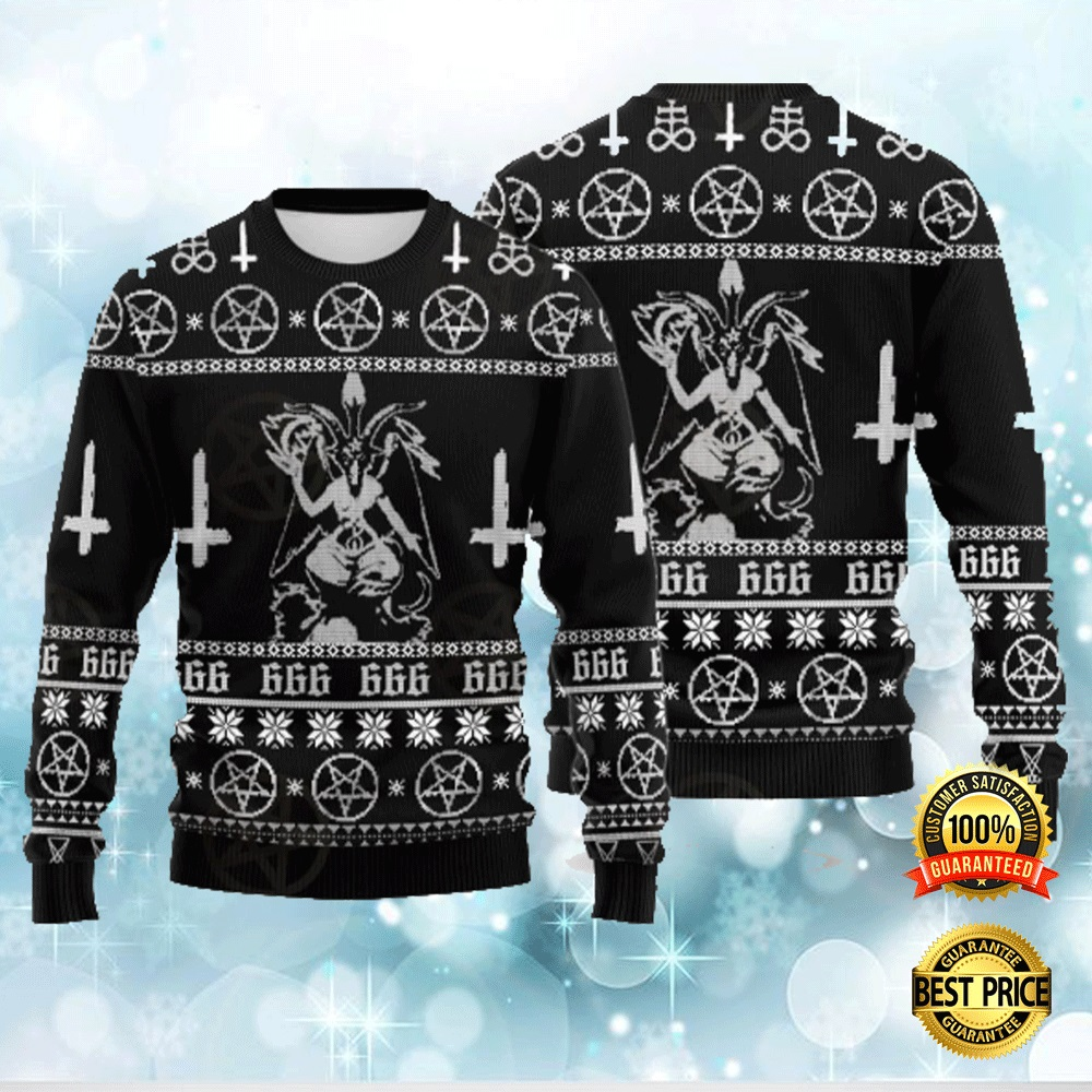BAPHOMET CROSS INVERTED UGLY SWEATER 4