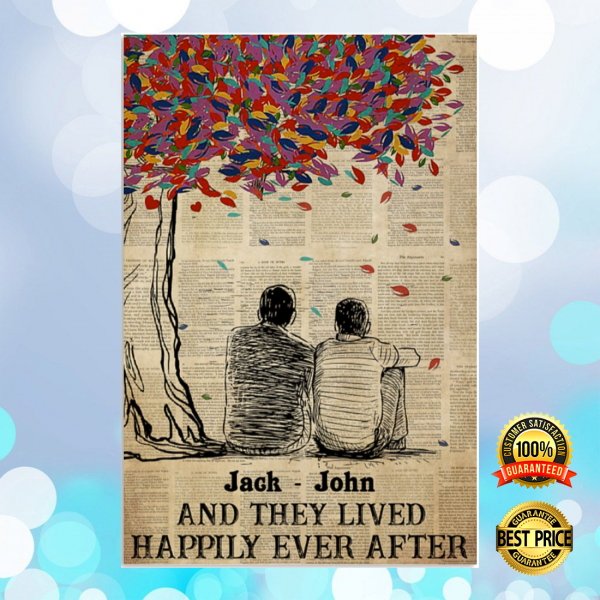 Personalized LGBT and they lived happily ever after poster 6