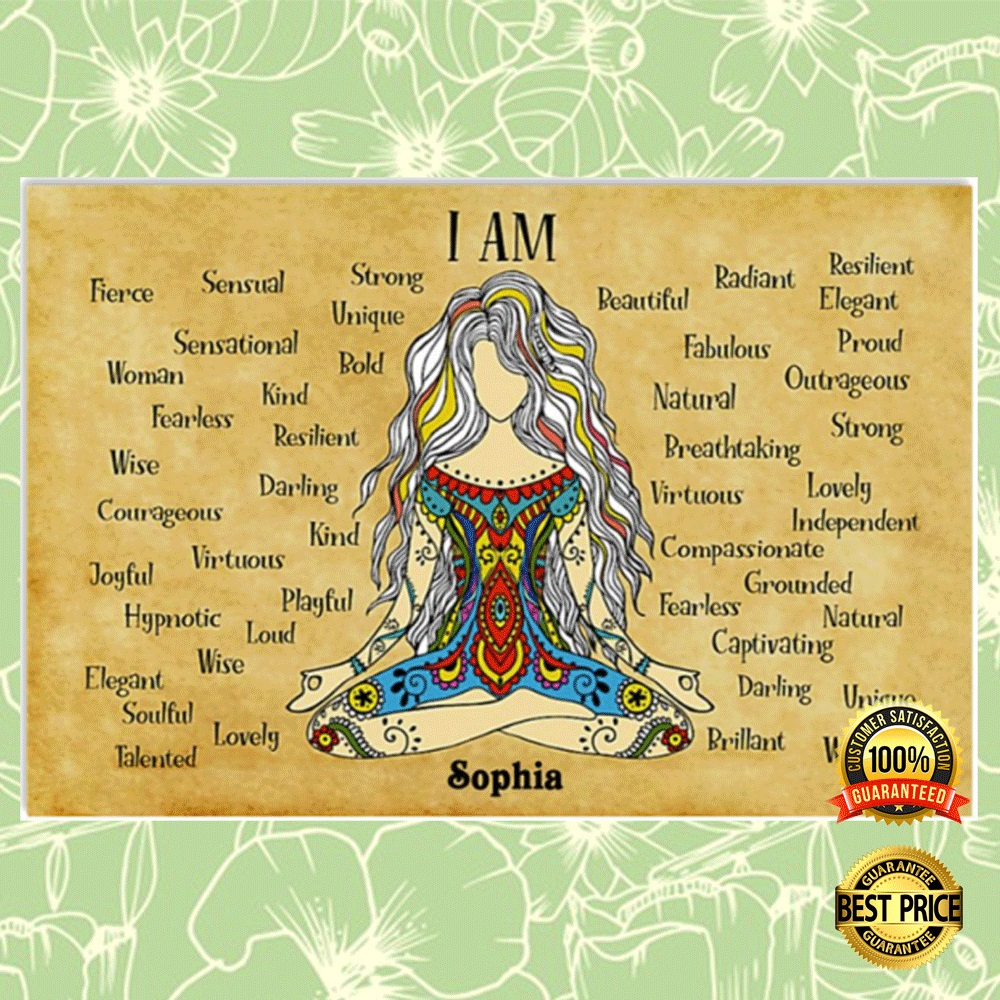 Personalized namaste girl i am strong unique poster 4