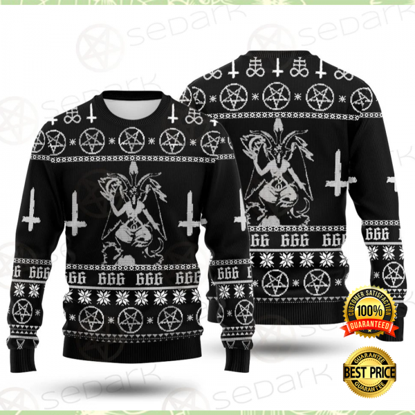 BAPHOMET CROSS INVERTED UGLY SWEATER 6