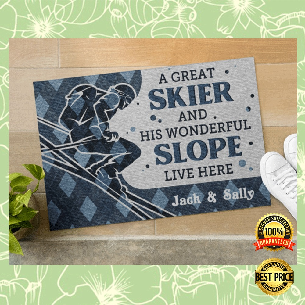 PERSONALIZED A GREAT SKIER AND HIS WONDERFUL SLOPE LIVE HERE DOORMAT 6