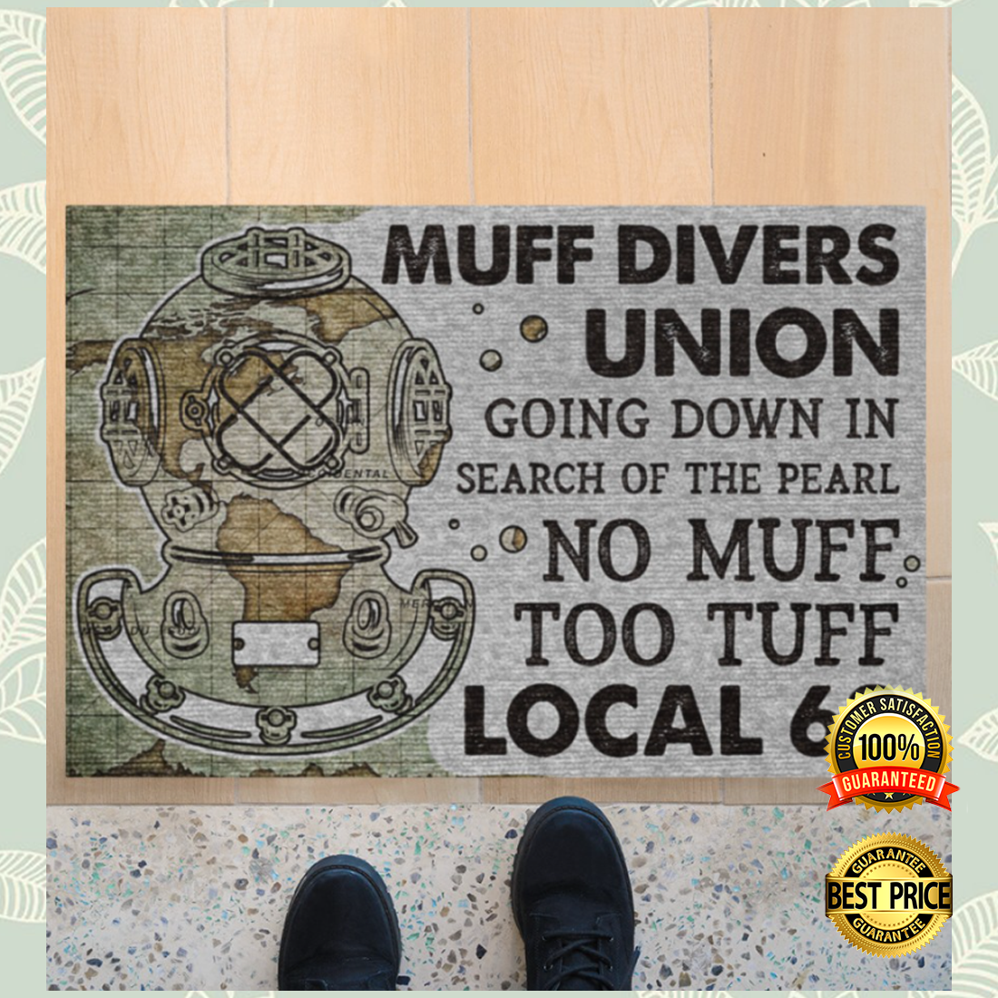 MUFF DIVERS UNION GOING DOWN IN SEARCH OF THE PEARL DOORMAT 6