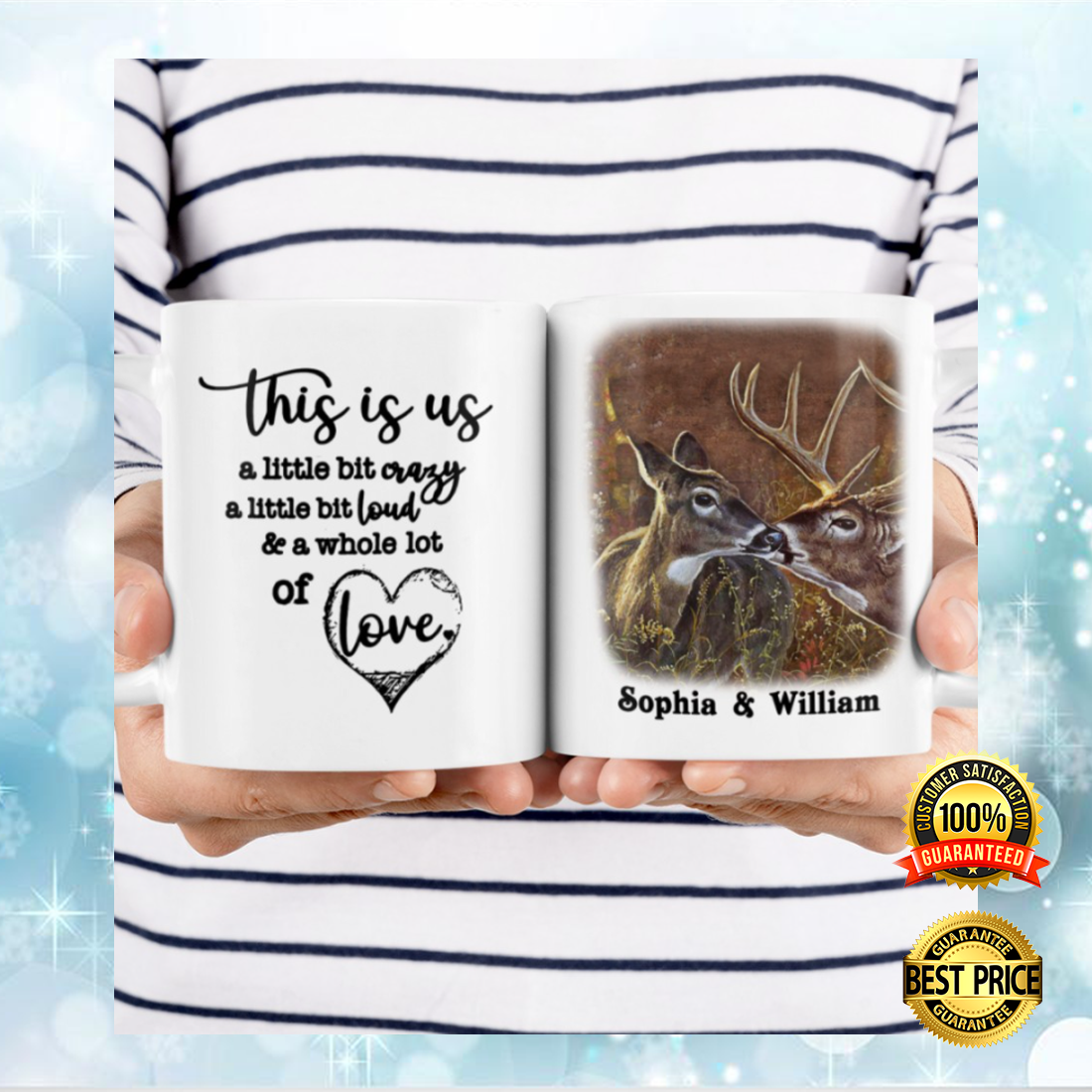 PERSONALIZED DEER COUPLE THIS IS US MUG 5